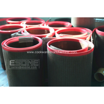 Non-stick and heat resistant PTFE mesh belt